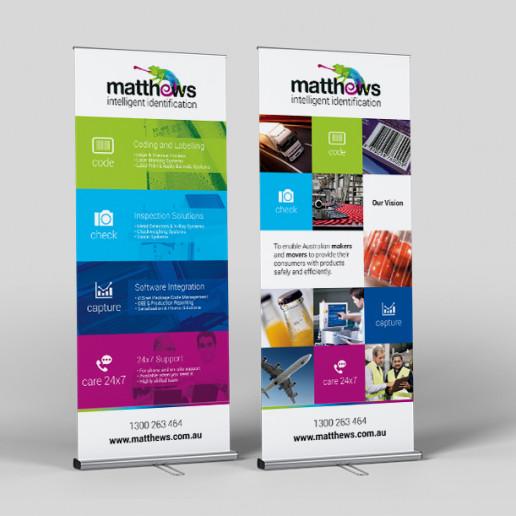 Matthews Pull Up Banners Brand Strategy Marketing Campaign Brand Design Boldfish