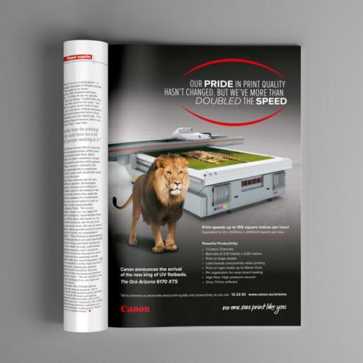 Conon No one sees print like you Advert Brand Strategy Marketing Campaign Brand Design Boldfish