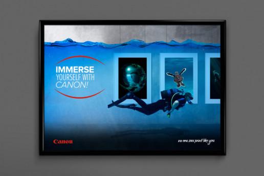 Canon Scuba Poster Brand Strategy Marketing Campaign Brand Design Boldfish