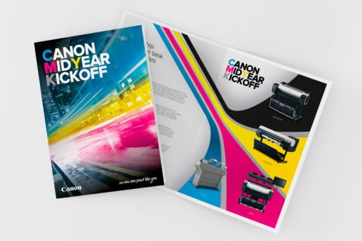 Canon Mid Year kickoff Brochure Brand Strategy Marketing Campaign Brand Design Boldfish