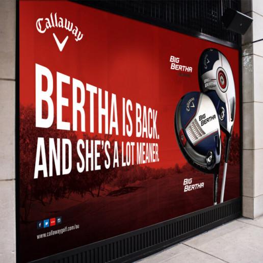 Callaway Golf Window Graphics Brand Strategy Marketing Campaign Brand Design Boldfish