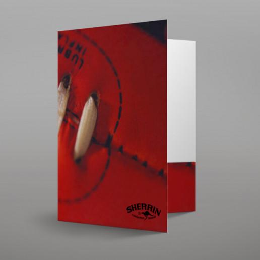 Sherrin Presentation Folder Brand Strategy Marketing Campaign Brand Design Boldfish