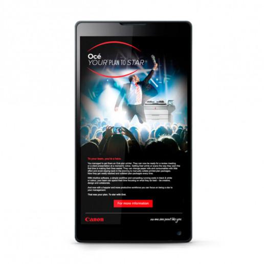 Canon Oce Star EDM mobile Brand Strategy Marketing Campaign Brand Design Boldfish