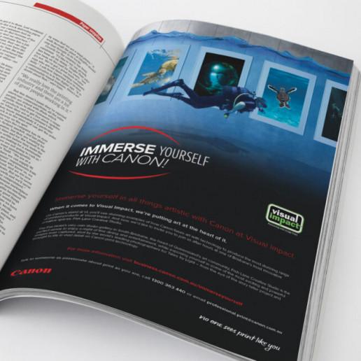 Canon No one sees print like you scuba Advert Brand Strategy Marketing Campaign Brand Design Boldfish