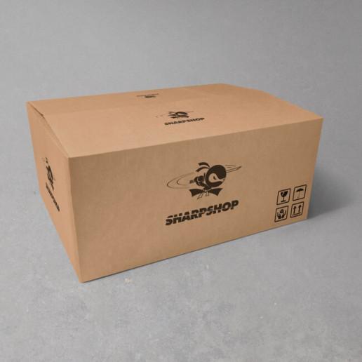 Sharpshop Packaging Shipper Box Brand Strategy Marketing Campaign Brand Design Boldfish