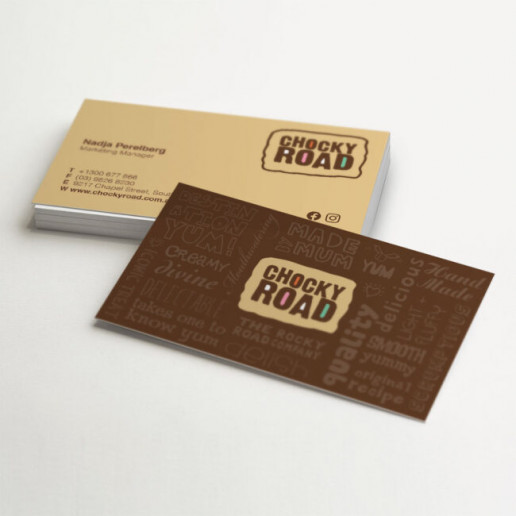Chocky Road Business Card Design Brand Strategy Marketing Campaign Brand Design Boldfish