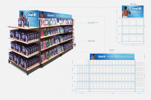 Oral B POS stand Brand Strategy Marketing Campaign Brand Design Boldfish