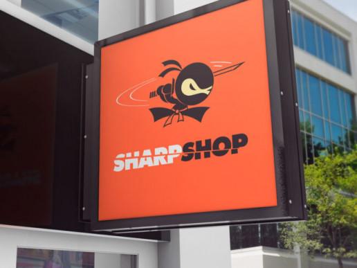 Sharpshop Outdoor Signage Brand Strategy Marketing Campaign Brand Design Boldfish