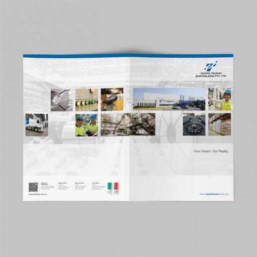 Toyota Tsusho Prentation Folder Brand Strategy Marketing Campaign Brand Design Boldfish
