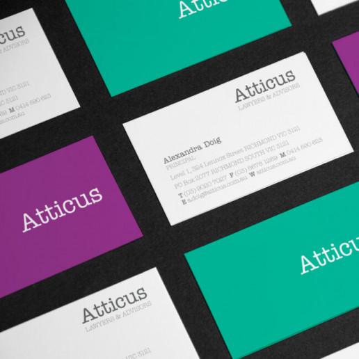 Atticus Business card design Brand Strategy Marketing Campaign Brand Design Boldfish