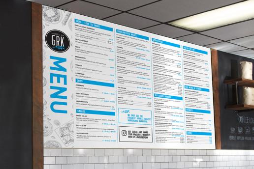 House of GRK Menu Board Brand Strategy Marketing Campaign Brand Design Boldfish