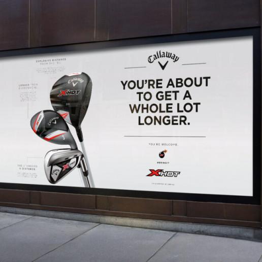 Callaway Golf Billboard Brand Strategy Marketing Campaign Brand Design