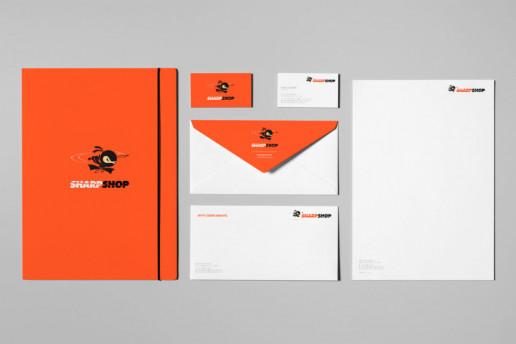 Sharpshop Stationery Design Brand Strategy Marketing Campaign Brand Design