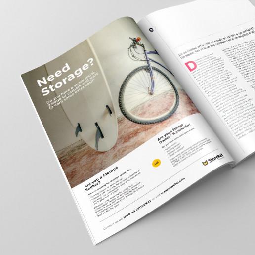 Storekat A4 Advert Design Brand Strategy Marketing Campaign Brand Design Boldfish