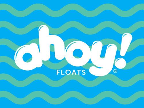 Ahoy Floats Logo Design Brand Strategy Marketing Campaign Brand Design