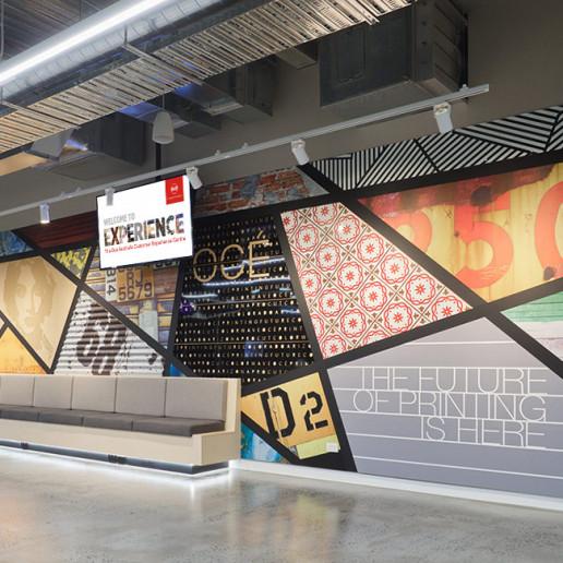 Océ CEC Wall Design Brand Strategy Marketing Campaign Brand Design