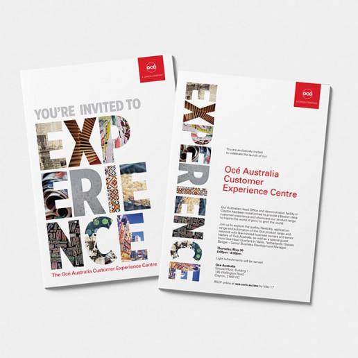 Océ CEC Flyer Invite design Brand Strategy Marketing Campaign Brand Design