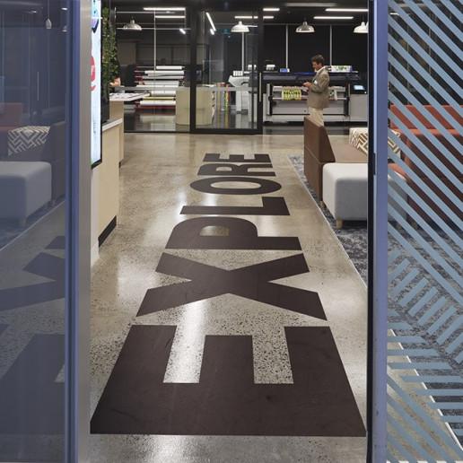Océ CEC Indoor Floor Graphics Brand Strategy Marketing Campaign Brand Design