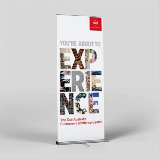 Océ CEC Pull up Banner Brand Strategy Marketing Campaign Brand Design