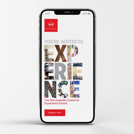 Océ CEC Mobile design Brand Strategy Marketing Campaign Brand Design