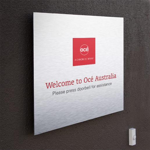 Océ CEC Indoor Sign Brand Strategy Marketing Campaign Brand Design