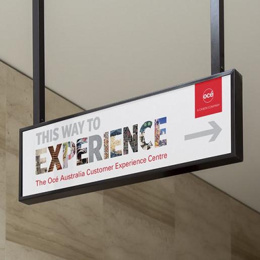 Océ CEC Outdoor Sign Brand Strategy Marketing Campaign Brand Design